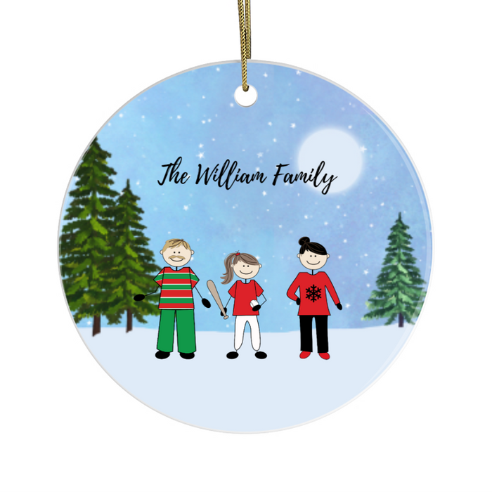 Personalized Ornament, Christmas Family Gift For Noel Holiday