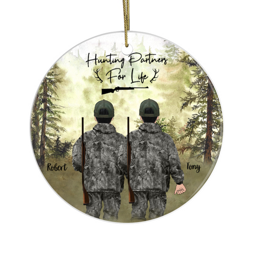 Personalized Ornament - Hunting Buddies Custom Gift For Christmas