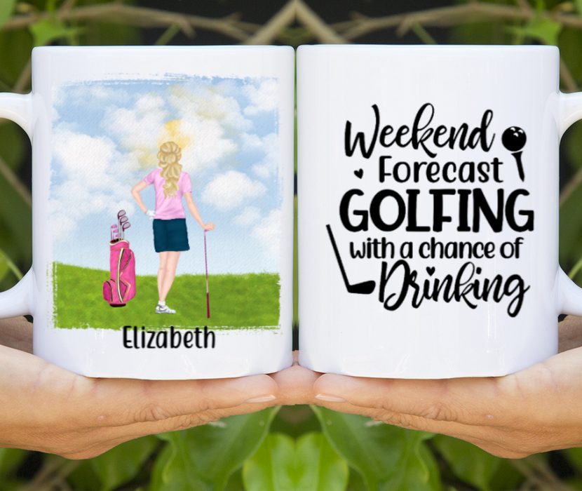 Personalized Mug - Golf Solo Player Custom Gift For Golf Lovers