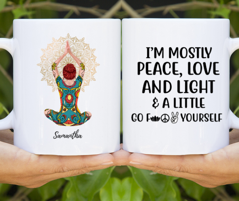 Personalized Mug, Mandala Yoga Girl Gifts For Yoga Lovers