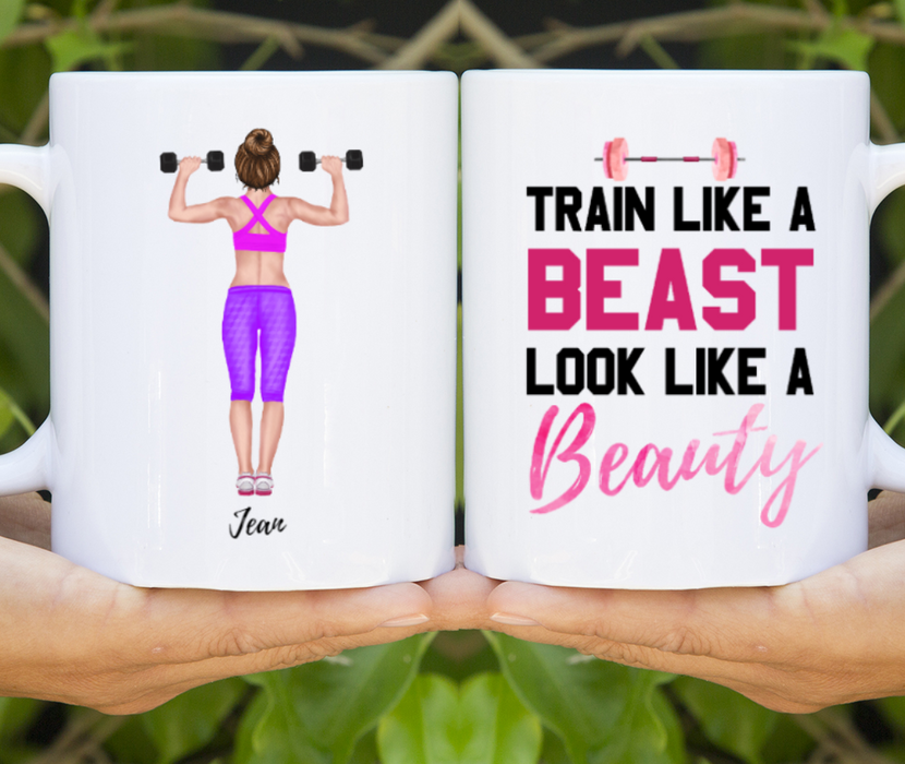Custom Gym Girl Personalized Mug Gifts For Working Out Lovers