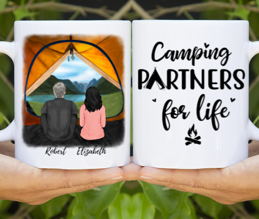 Custom Camping Partners View Mug Personalized Gift For Couple Best Friends