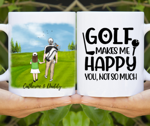 Personalized Mug, Dad And Kids Golf Partners Gifts for Golf Lovers