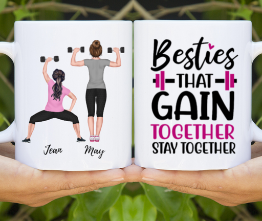 Personalized Mug, Gym Sisters Tshirt Version Gift For Workout Lovers