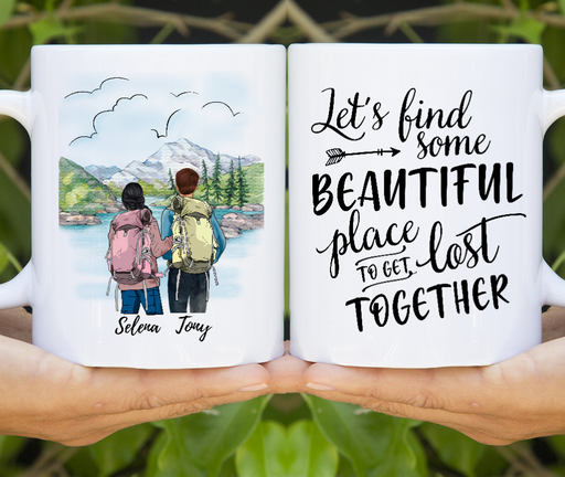 Personalized Mug, Hiking Couple Gifts