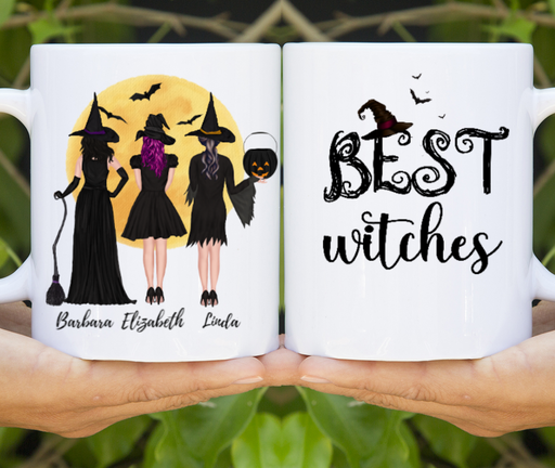 Custom Halloween Mug Personalized Gift For Sisters Best Friends
