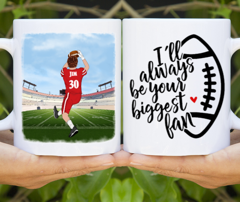 Custom American Football Personalized Mug Gifts For Football Player Lovers