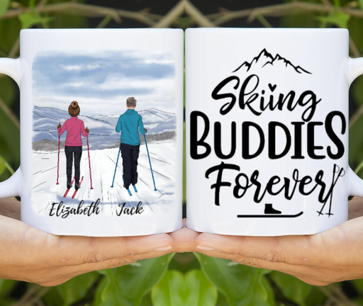 Personalized Mug, Custom Mug Skiing Couple For Life Gifts for Skiing Lovers