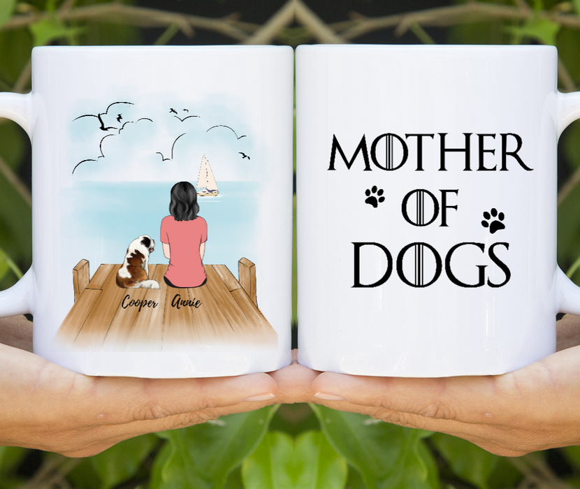 Personalized Mug, Mother Of Dogs Gift For Dog Mom