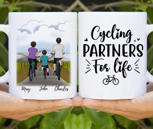 Custom Cycling Partners For Life Gifts For Cycling Family