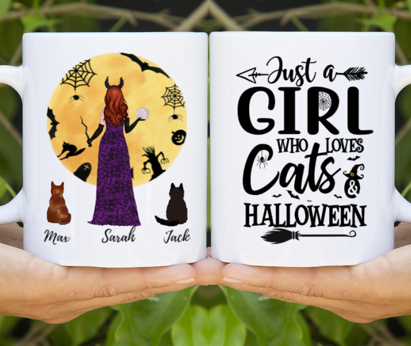 Personalized Mug - Cat Witch Halloween For Cat Lovers