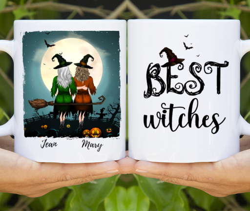 Custom Witches Sisters Personalized Mug Gifts For Halloween Besties