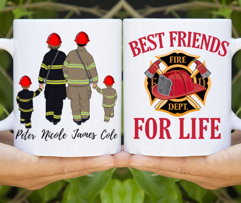 Custom Fire Fighter Family Mug personalized gift for Family