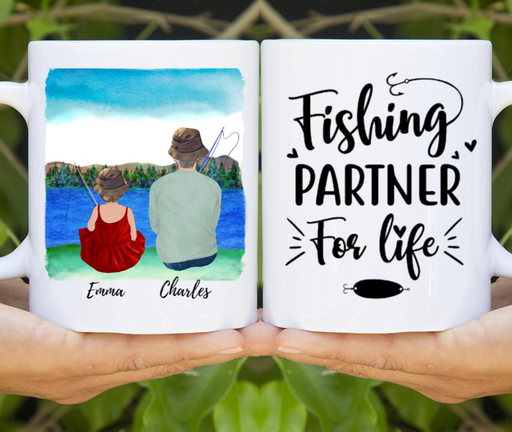 Custom Fishing Partners Mug Personalized Gift for Fishing Lovers