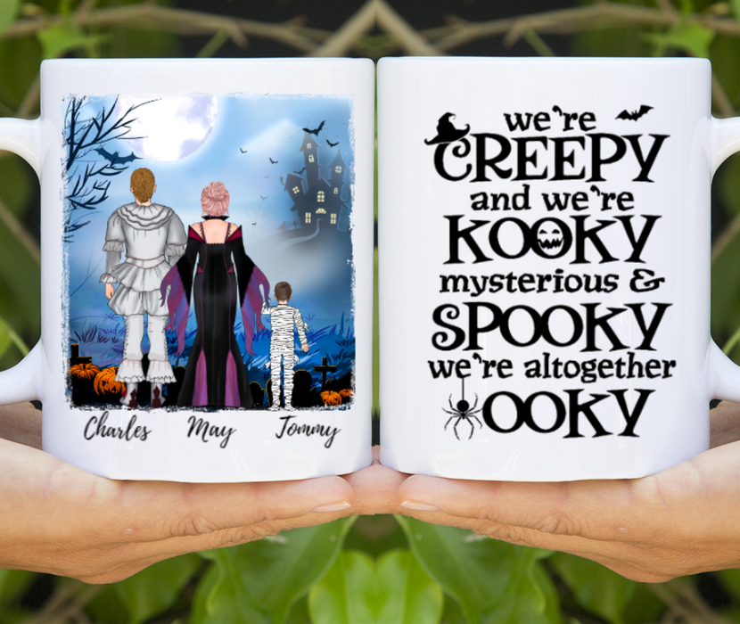 Custom Spooky Family Personalized Mug Gifts For Halloween Family