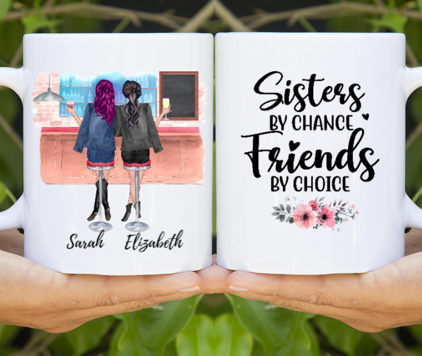 Custom Girls Drinking Mug Personalized Gift For Sisters Best Friends