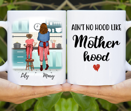 Custom Mother And Daughter Cooking Time Personalized Mug Gifts For Wife Mom