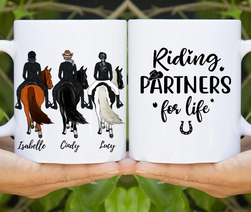 Personalized Mug, Riding Horse Three Friends Gifts