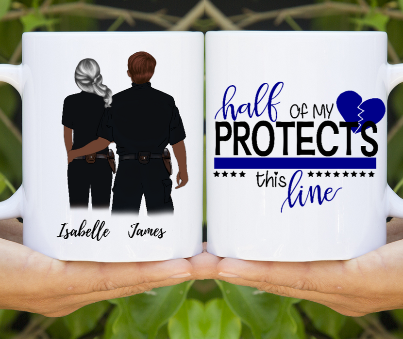 Customized Police Couples/Friends Mugs