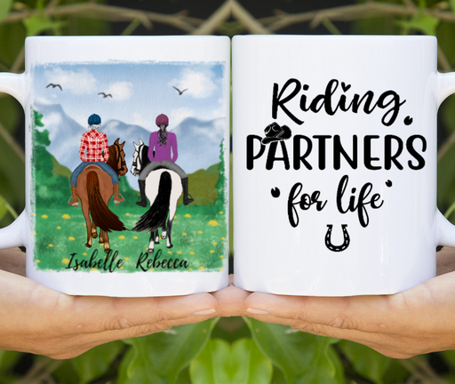 Custom Riding Partners For Life Mug Personalized Gifts For Horse Lovers