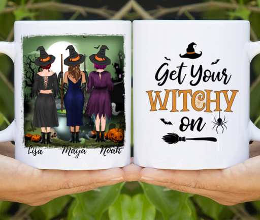 Custom Halloween Girls Mug Personalized Gift for Halloween Sisters