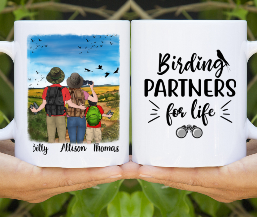 Personalized Mug - Bird Watching Partners Custom Gift for Bird Lovers