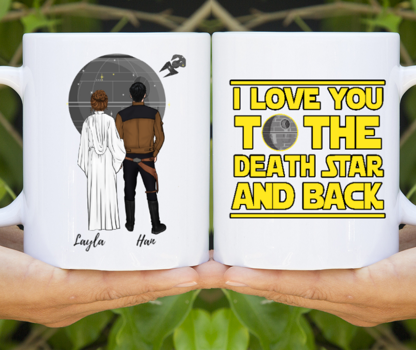 Custom SW Couple Personalized Mug Gift For SW Lovers