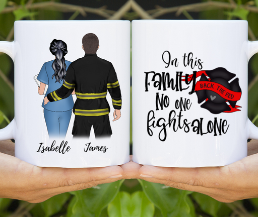 Nurse And Firefighter Custom Mug