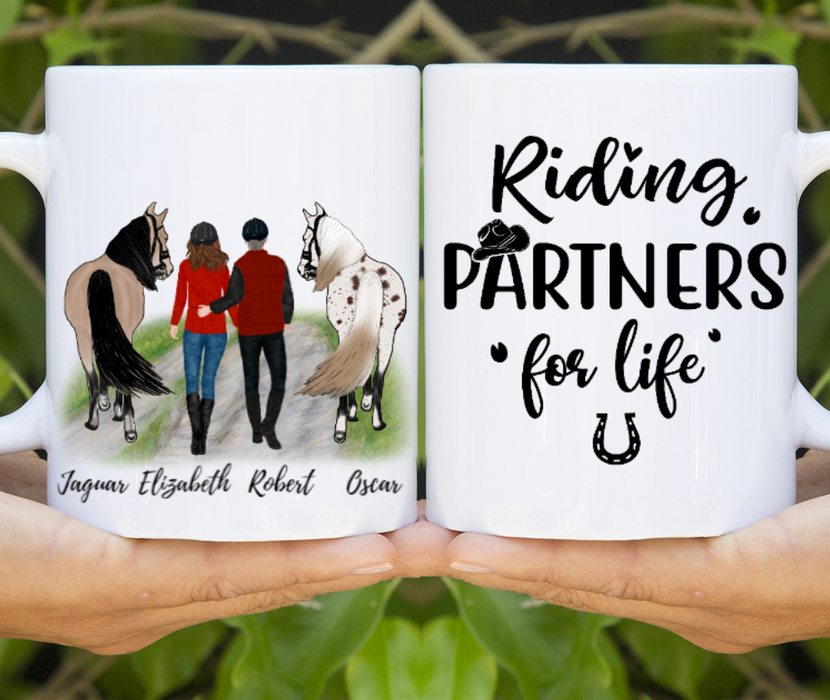 Custom Horse Couple Personalized Gift For Horses Lovers