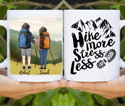 Custom Hiking Partners For Life Mug Personalized Gift For Couple Best Friends