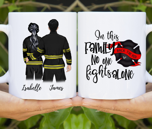 Firefighter Customized Couple Mug