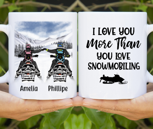 Personalized Mug, Snowmobiling Gifts You Make My Heart Gifts for Snowmobilers