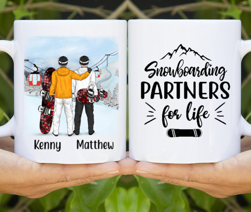 Personalized Mug, Snowboarding Partners Same Gender Vers Custom Gifts for Snowboarders