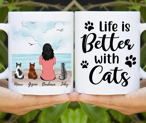 Cat Lady Cat Lovers Customize mug