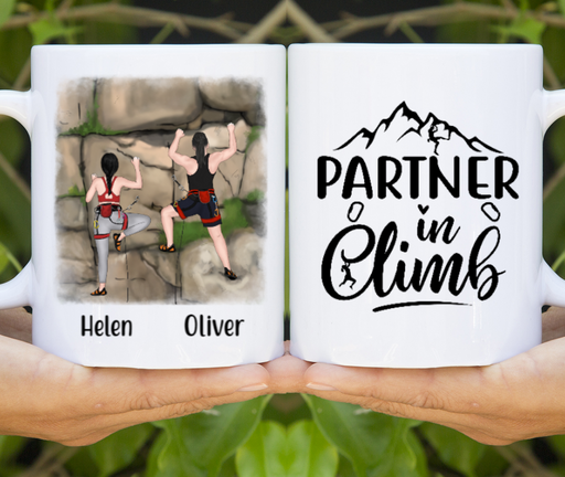 Personalized Mug - Rock Climbing Partners Custom Gift For Climbers