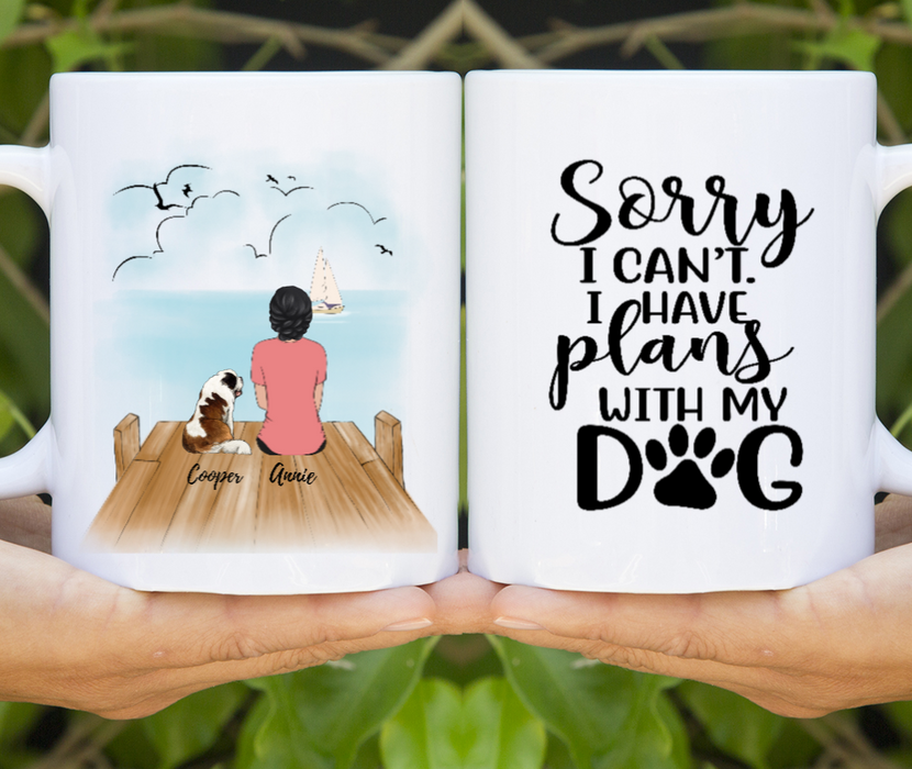 I Have Plans With My Dog Personalized Mug