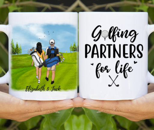Personalized Mug, Custom Gifts for Golf Couple, Golf Lovers