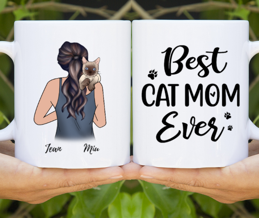Cat Mom Customize Mug Personalized Gift For Cat Lovers