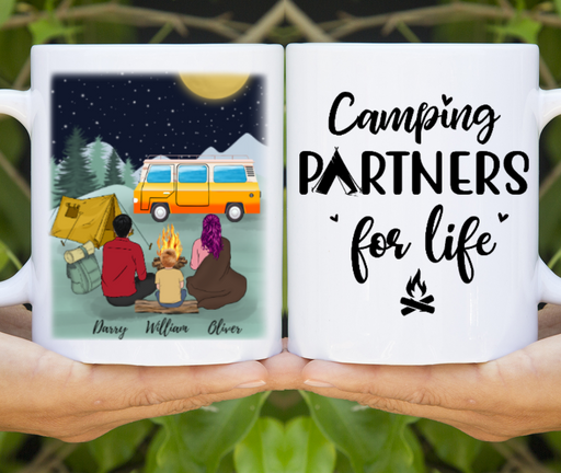 Camping Partners For Life Family Personalized Mug