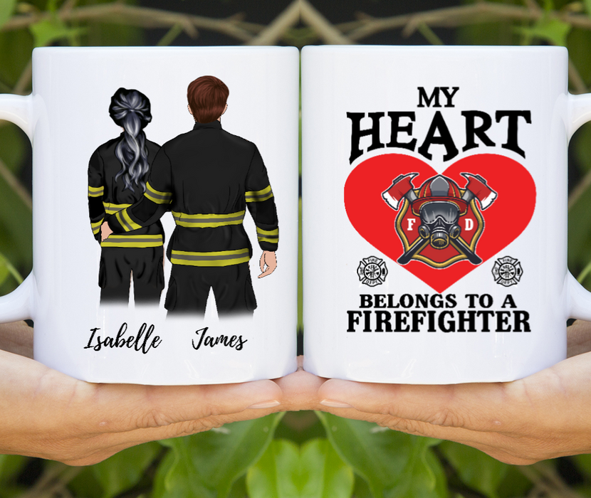 Customized Firefighter Couples/Friends Mugs