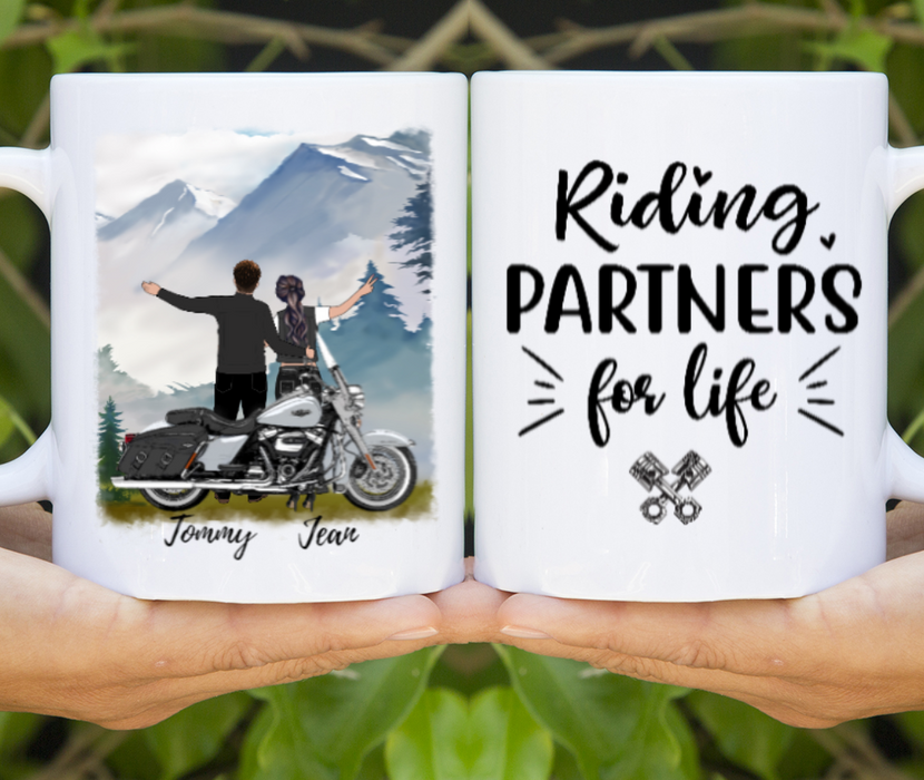 Custom Riding Partners For Life Personalized Gift For Motorcycle Lovers