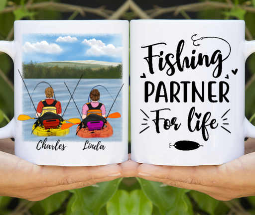 Custom Kayak Fishing Partners Personalized Mug Gifts For Fishing Lover