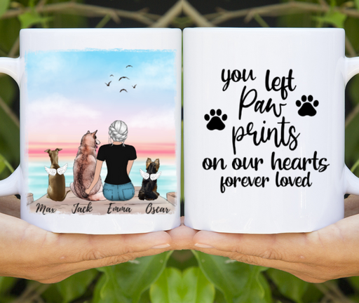 Custom Memorial Dogs Mug Personalized Gift for Dogs Lovers