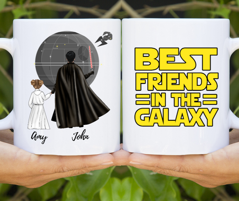Custom Father & Daughter Best Friends In The Galaxy Personalized Mug