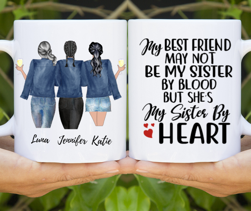 Three Sister Best Friends Customize mug