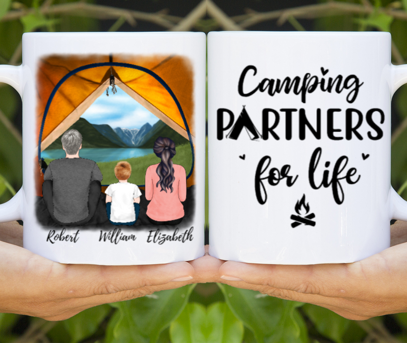 Custom Camping View Family Mug Personalized Gift For Camping Lovers