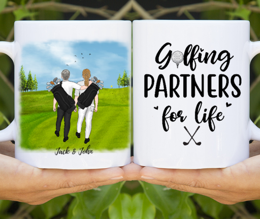 Personalized Mug, Two Men Golf Partners Gifts for Golf Lovers