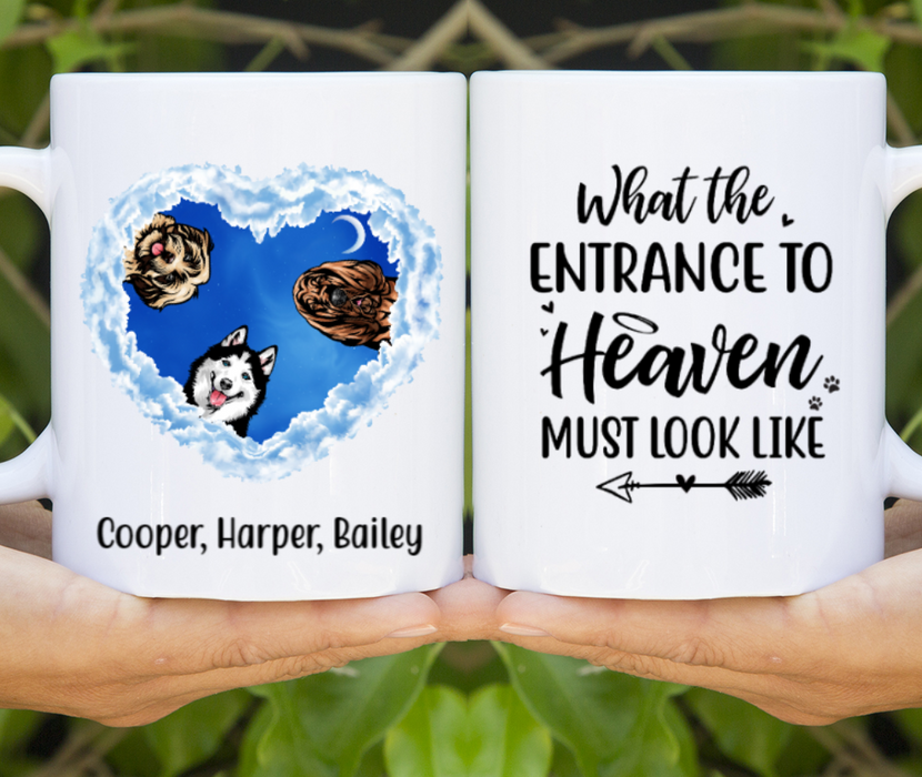 Personalized Mug - Memorial Dogs In Heaven Custom Gift For Dog Lovers