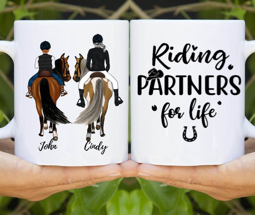Custom Mug Mom and Child Riding Horse