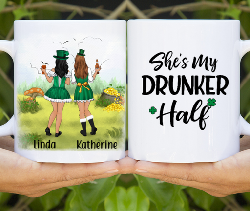 Personalized Mug - St Patrick's Day Girls Custom Gift For Sisters Best Friends